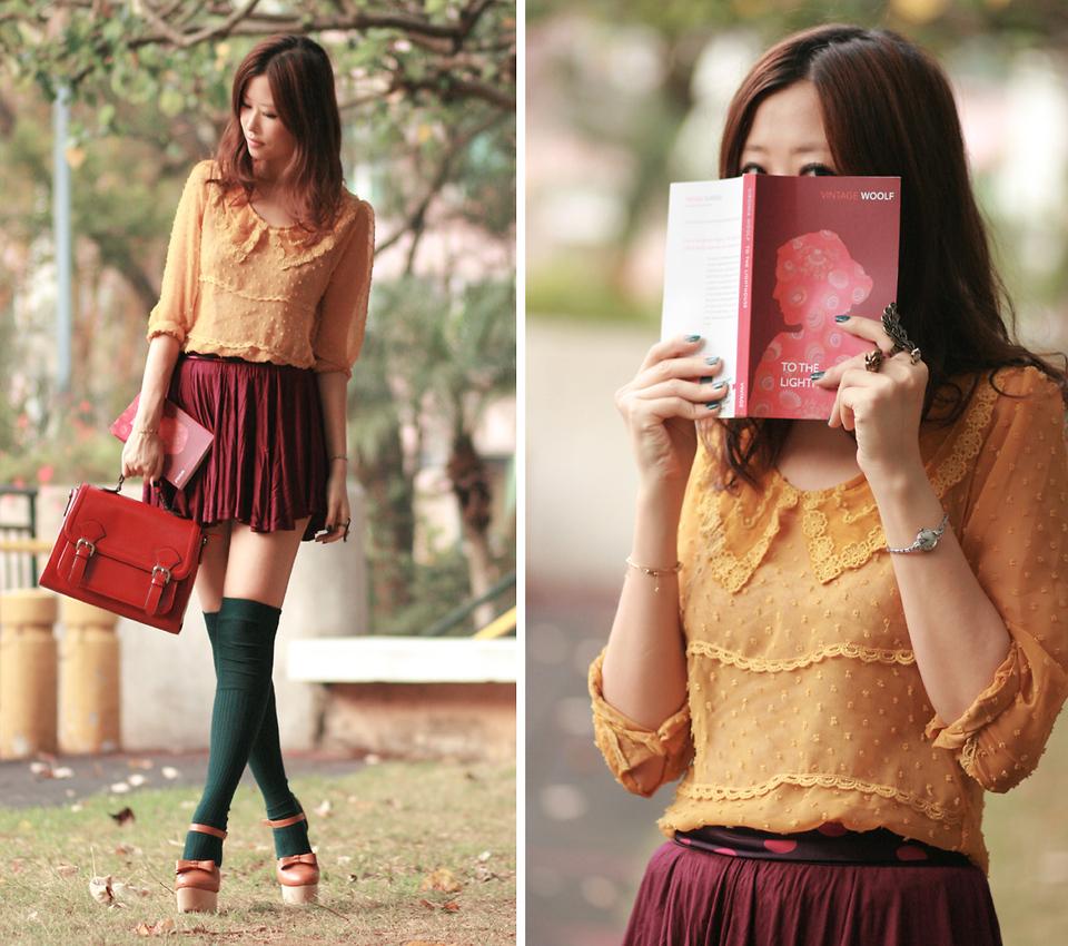 Mayo Wo - Yesstyle Yellow Shirt, Romwe Sheer Sweater
