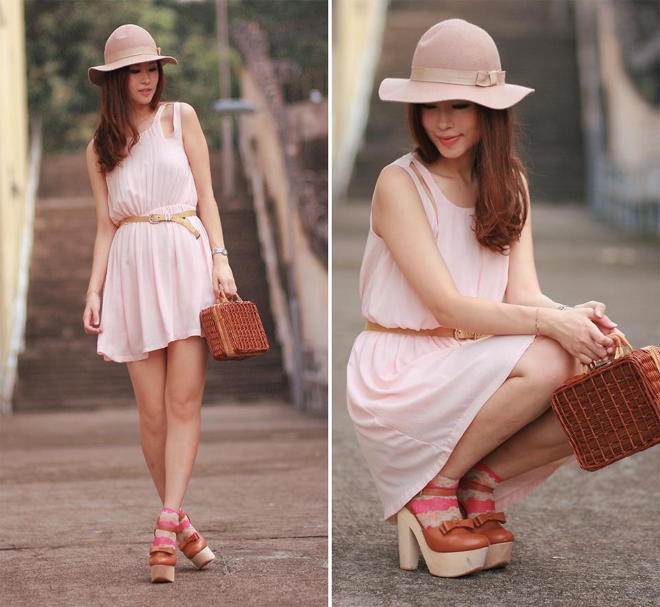 Mayo Wo - Monki Nude Hat, Laurustinus Barely Pink Cutout