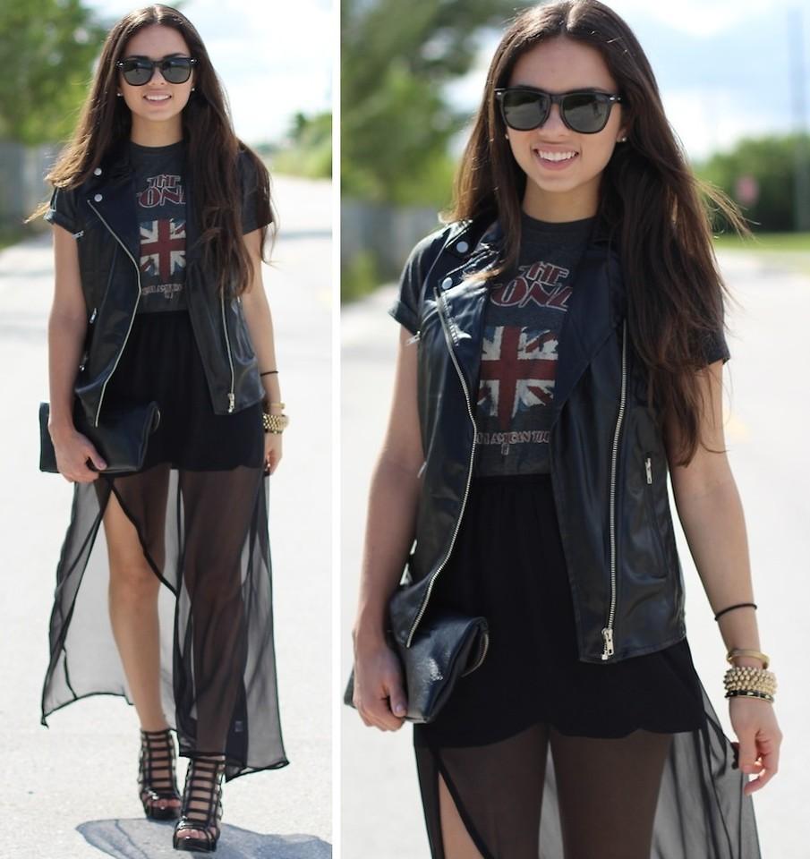 Daniela Ramirez - Target Print Skirt, Target Green Moto