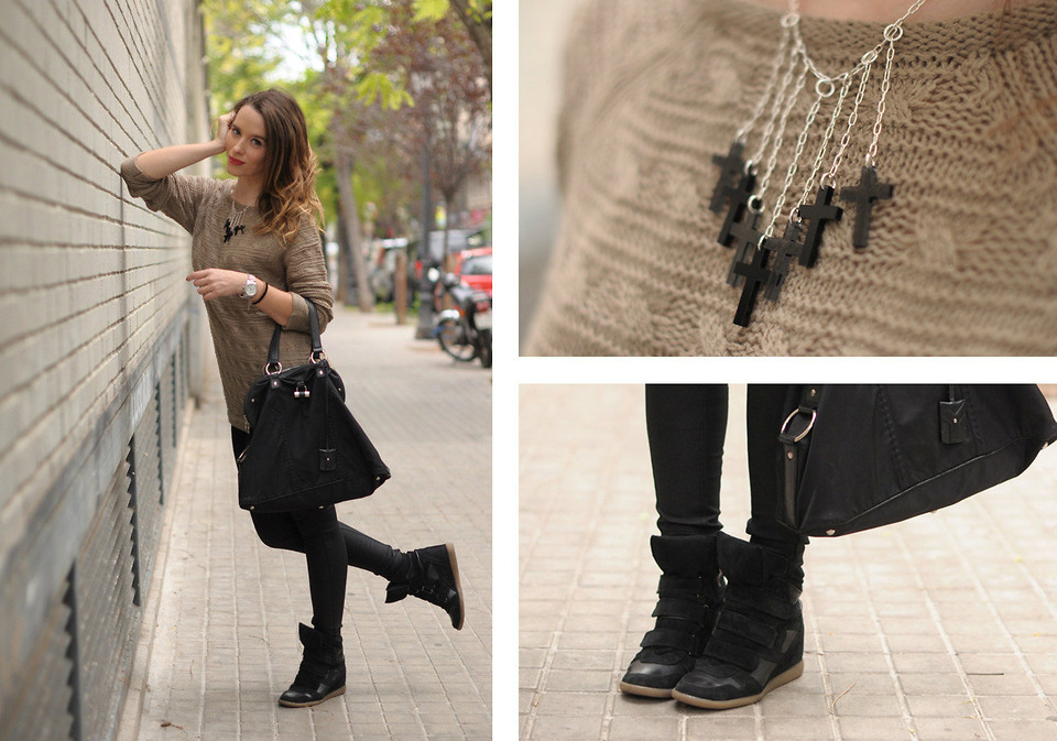 Macarena Gea - Yves Saint Laurent Bag - Sneakers day