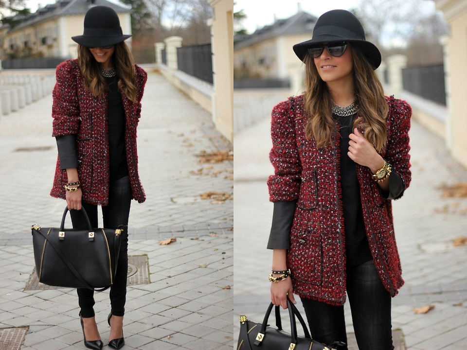 Besugarandspice FV - Zara Jacket, Zara Skirt - Red Skirt