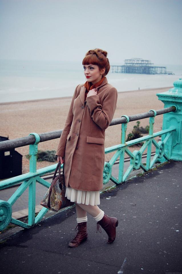 Kerry Lockwood - Absolute Vintage Olive Green Felt Bowler