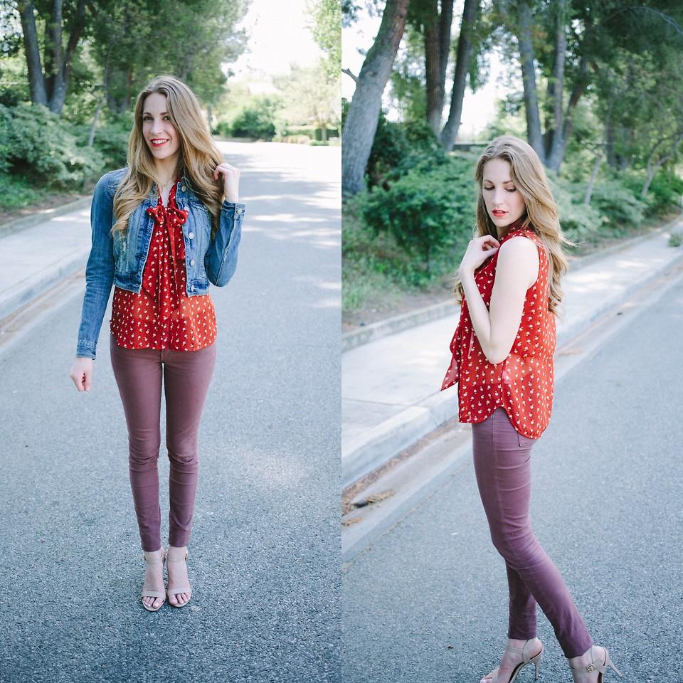 Megan Magers - American Eagle Denim Jacket, Foreign