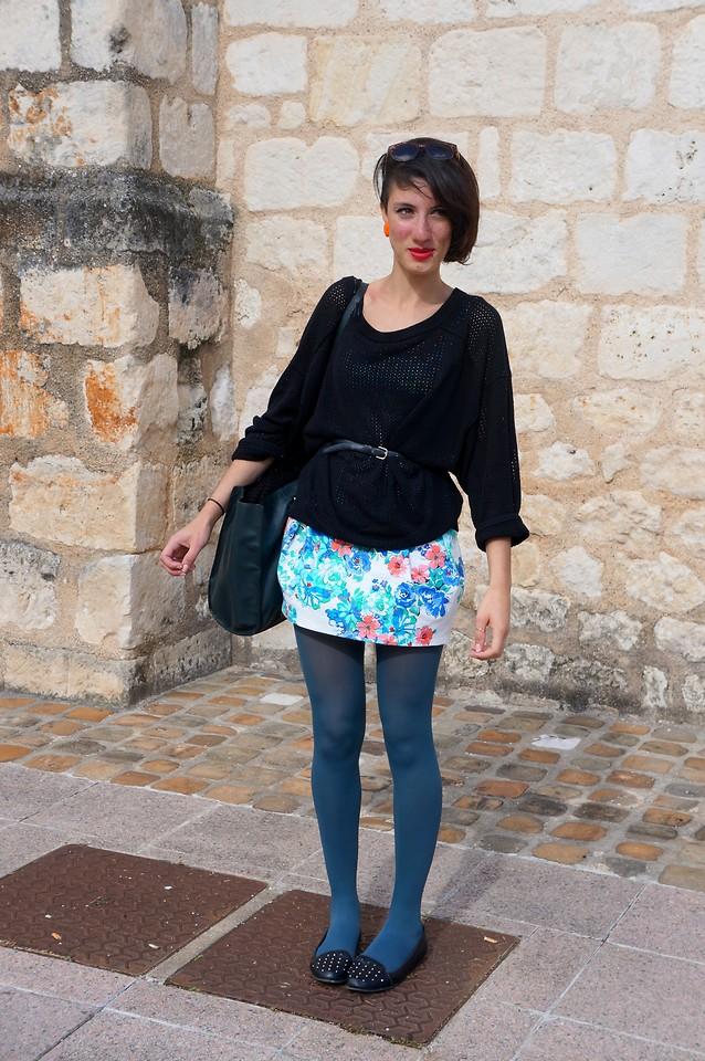 Charlotte Sylla Marquaille Zara Pull Zara Sac Emmaus Ceinture Zara Robe La Halle Aux Chaussures Ballerines Klingande Lookbook