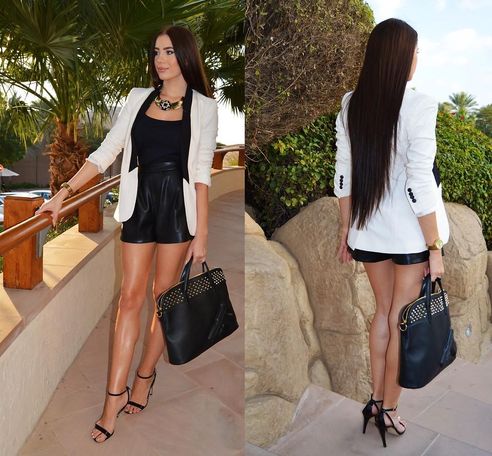 Laura Badura - Zara Shorts, River Island Top, Mango Vest