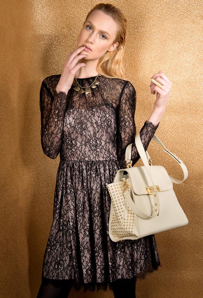 Mika Look Nyc Zac Posen Eartha Studded Top Handle Bag