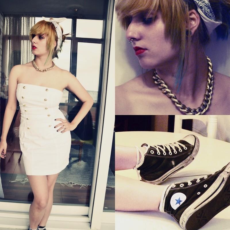 Selene Torrado White Band H M Gold Necklace Crazy Factory