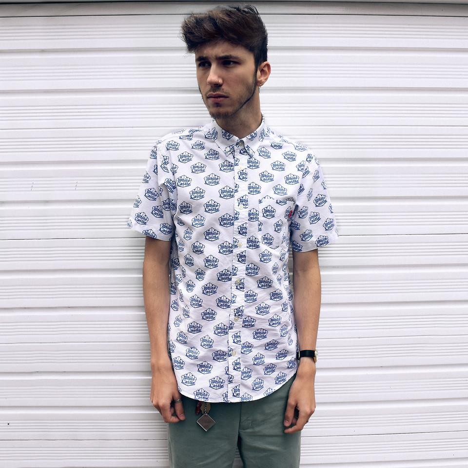 supreme white castle shirt