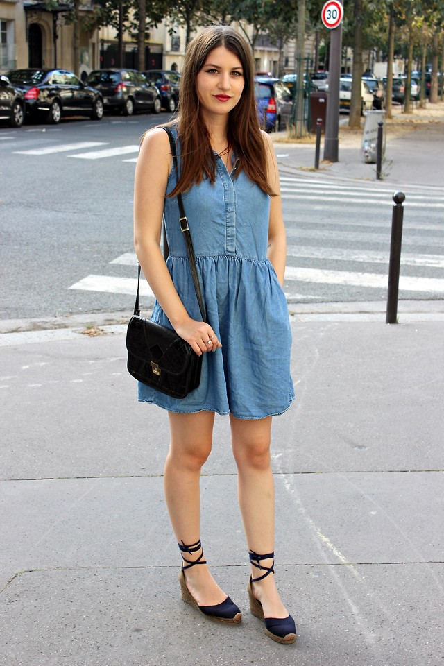 Julie Etc Mango Castaner La Robe En Jean Lookbook