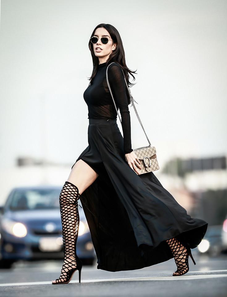 Claudia Salinas - Ray Ban Hexagonal Sunglasses, Helmut