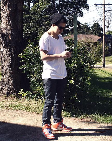 nike dunk high skinny jeans