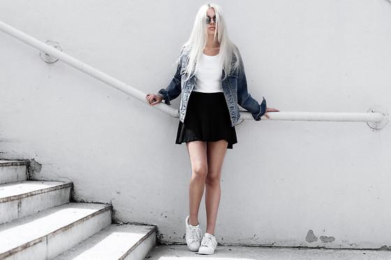 adidas superstar all white women style