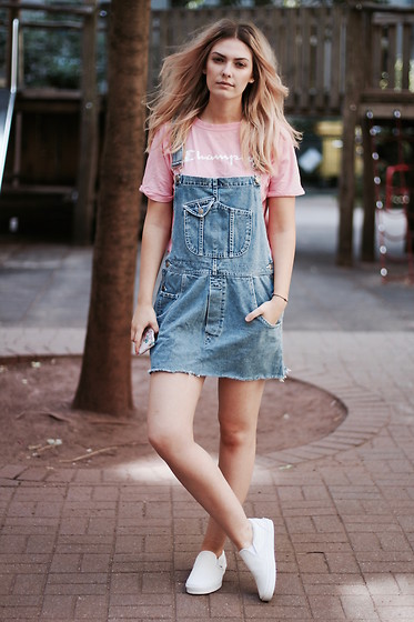Marie J. , Urban Outfitters Dungaree Dress, Champions T