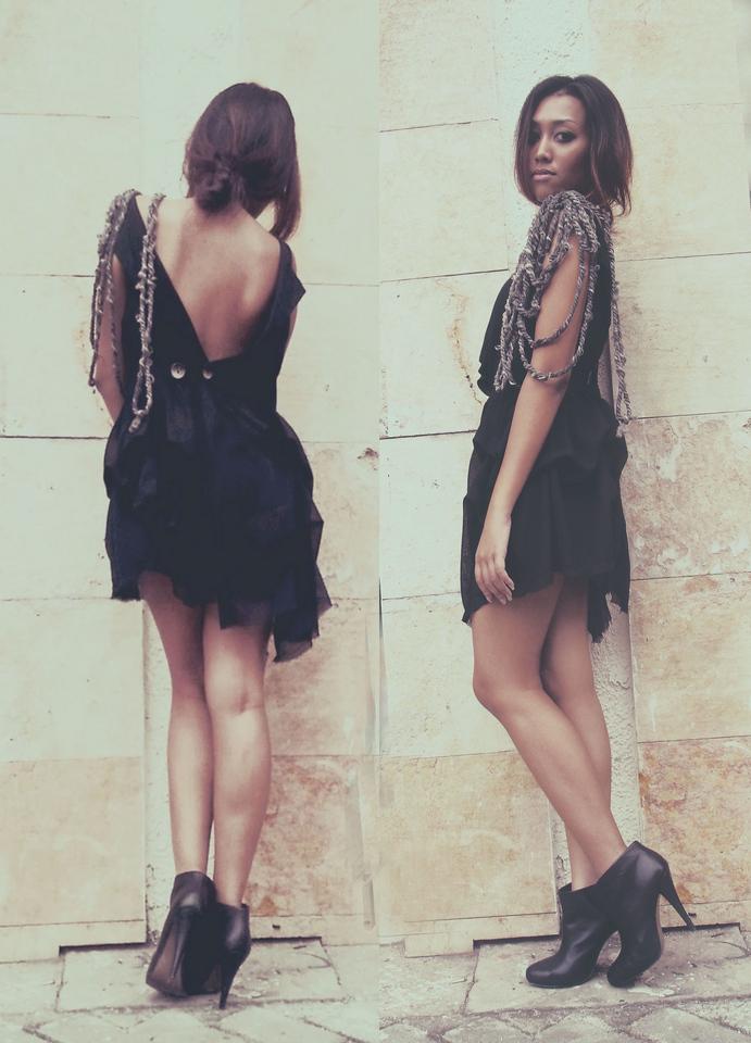 little black dress boots
