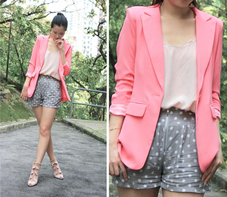 светло розовый пиджак с чем носить фото