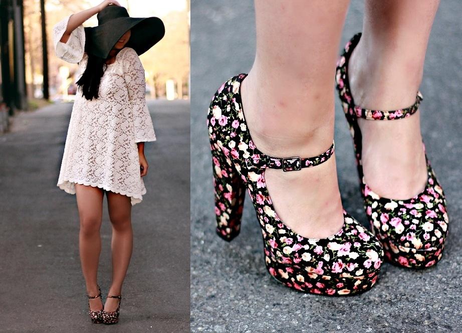 Forever 21 Floral Platform Shoes, Lulus