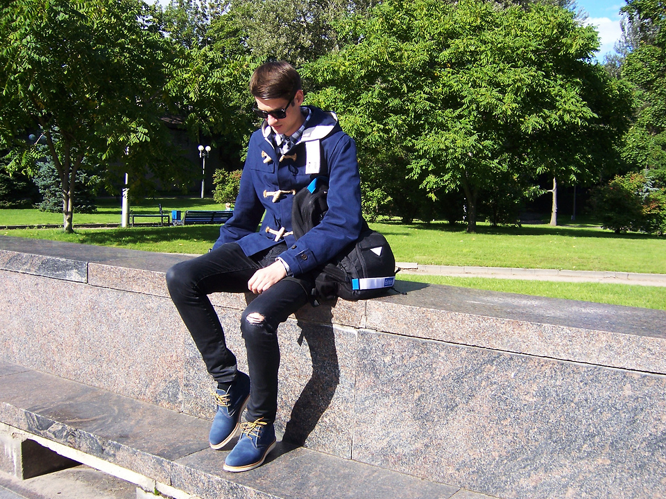 100% top quality detailed pictures quite nice Alexander Timokhin - Gloverall Short Cotton Duffle Coat, Red Wing ...