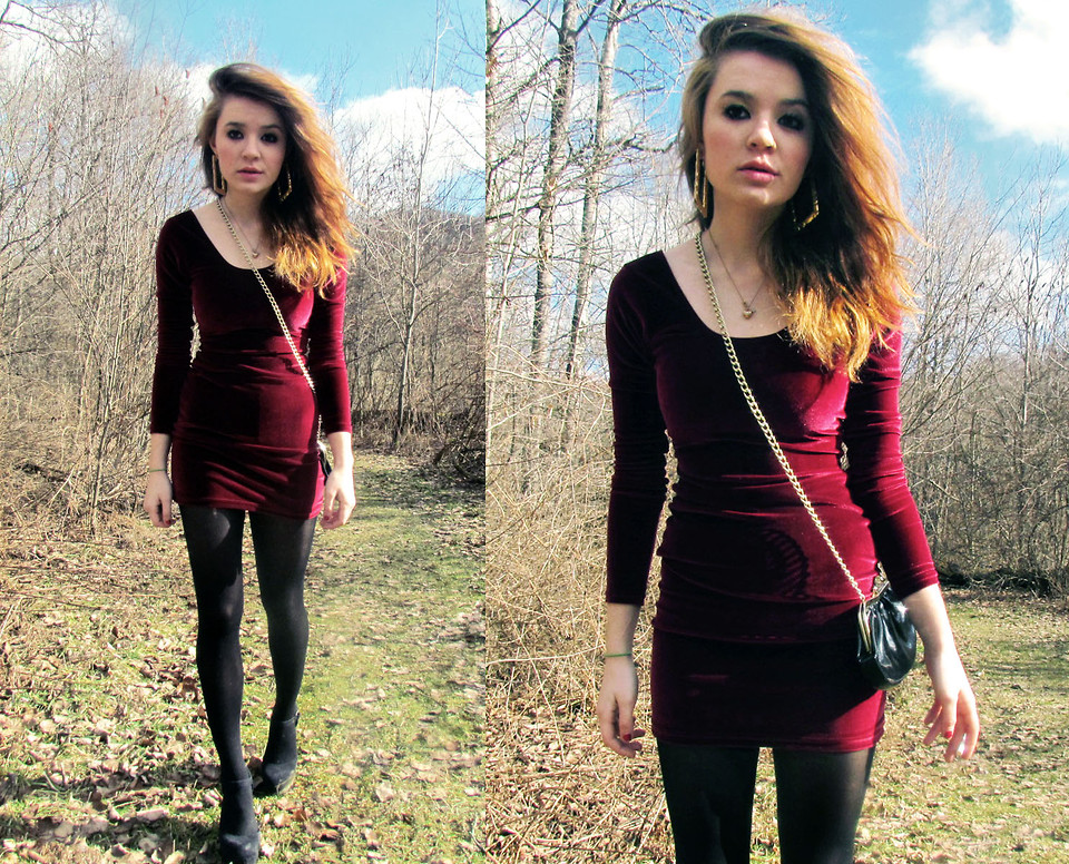 Alissa L American Apparel Velvet Bodycon Dress Goodwill