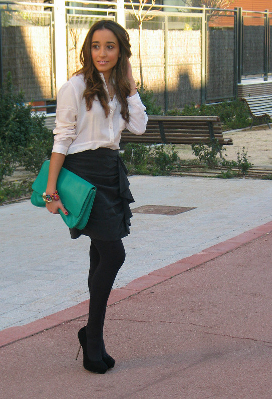 Besugarandspice FV - Zara Skirt, Mango Clutch - Fringed