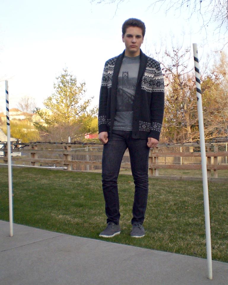 Byas Grey Patterns Cardigan