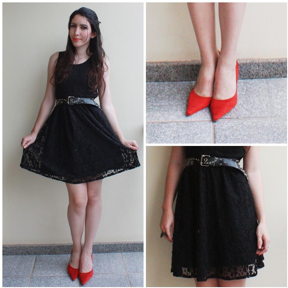 Raquel Tamiette - Black Dress, Red