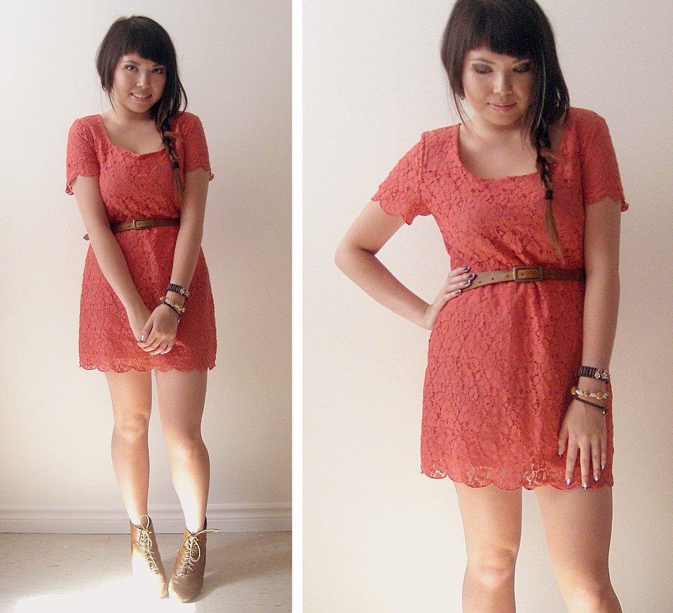 dress with tan boots