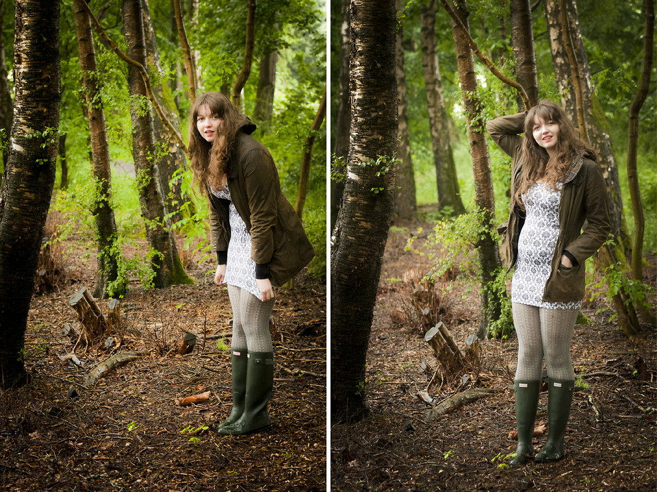 Kathryn W Hunter Wellies Black Milk Clothing Wallpaper