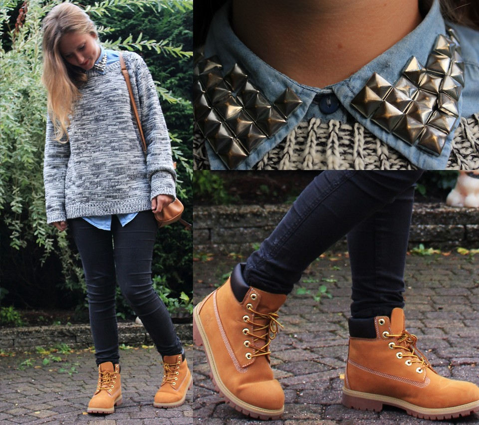 gå online ny produkt för hela familjen Eva Dam - New Look Sweater, H&M Pants, Timberland Shoes, Studded ...