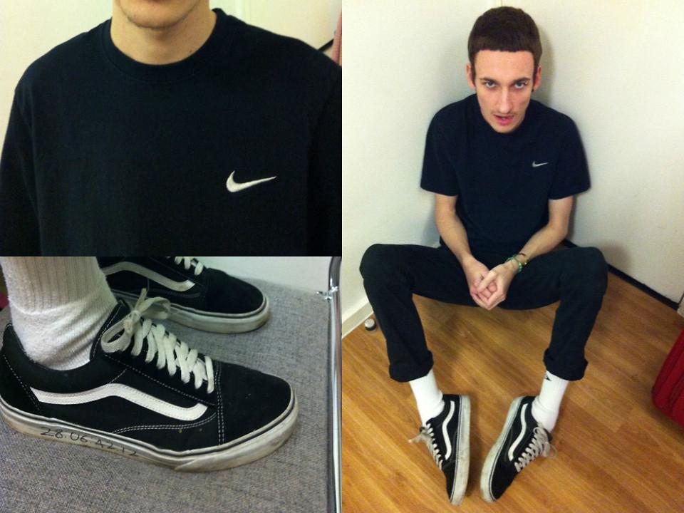 dominic barnes nike t shirt vans old skool river island black skinny jeans take me back to the 90 s lookbook lookbook
