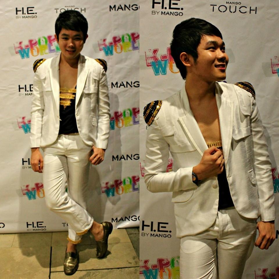 Jovitz Cadigal Fashion Designer Ayala Bespoke White Crisp Suit Jovitz Cadigal Bespoke Chain Top Comme Des Garcons Sea Green Patent Leather Loafers Mango Goes K Pop Lookbook