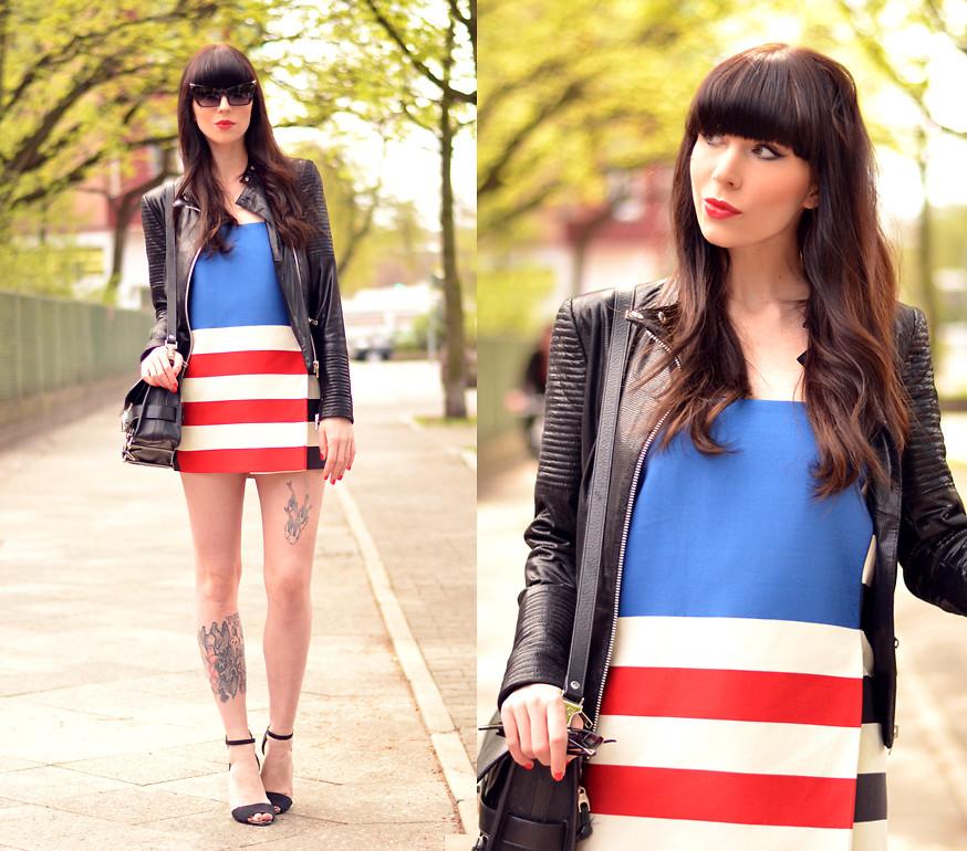 Ricarda Schernus Acne Studios Usa Flag Skirt Dress Set