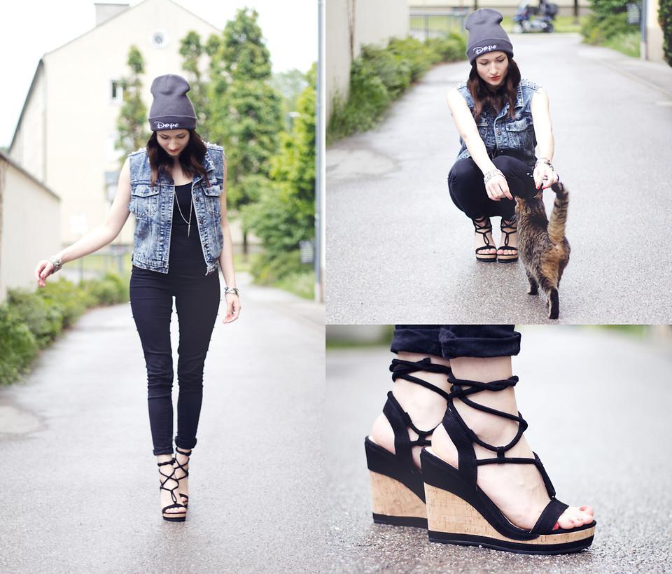 Reactor Evaporar Impuro  Angela Doe - Dope Beanie, Geox Shoes, Vj Style Studded Jeans Vest ...