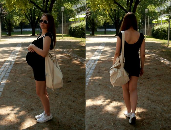 H\u0026M Little Black Dress, Converse White