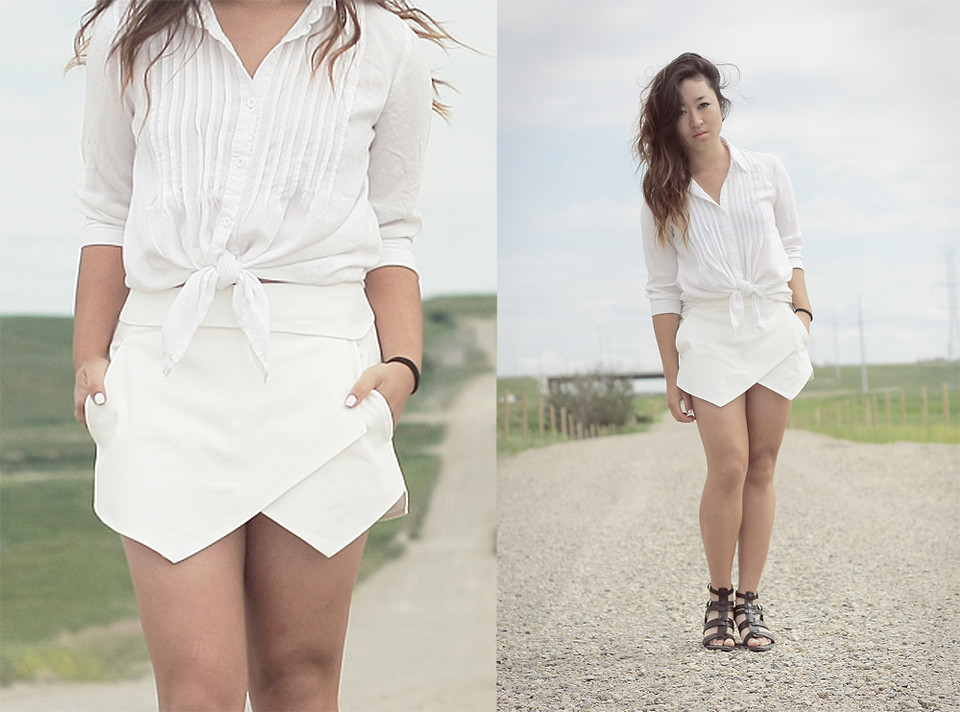 Pari Coleini - Forever 21 Sweater, Zara Origami Skort, Zara Chunky ... | 712x960