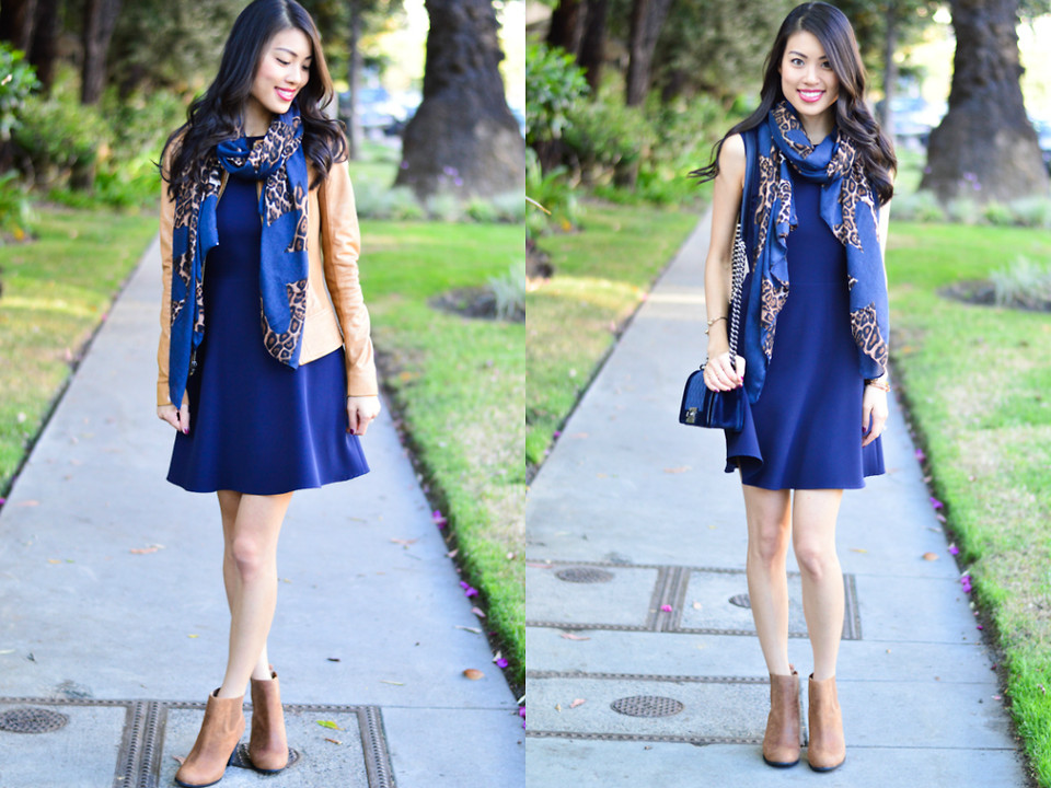 boots with navy dress