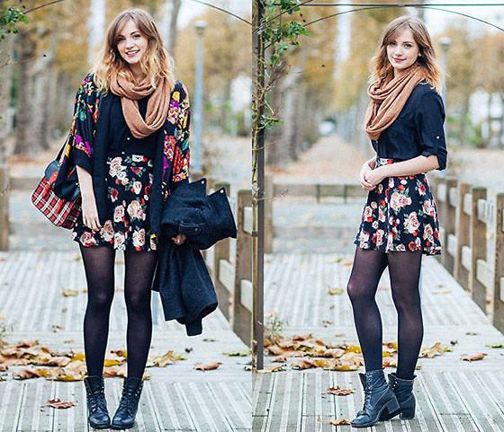 Lydie Bonhomme H&M Kimono, H&M Jupe Look 29 | LOOKBOOK