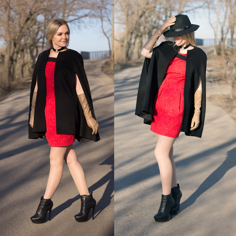 boots with red dress