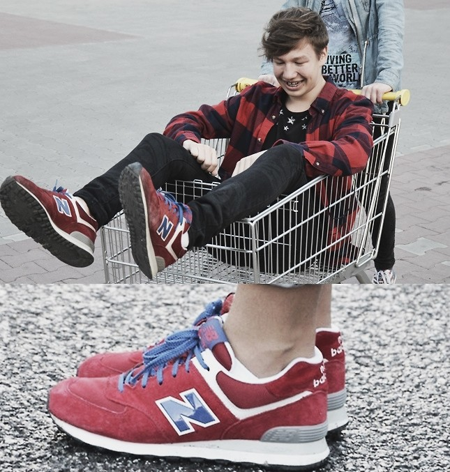 red new balance outfit men
