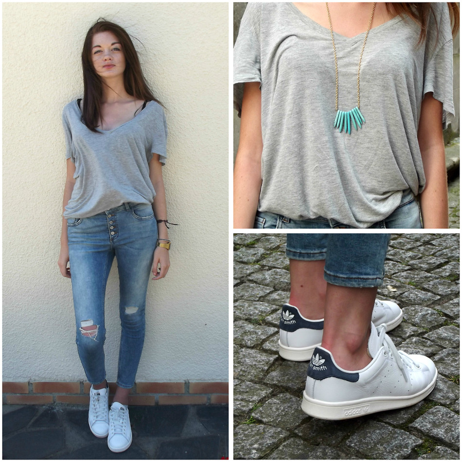 stan smith shoes with jeans
