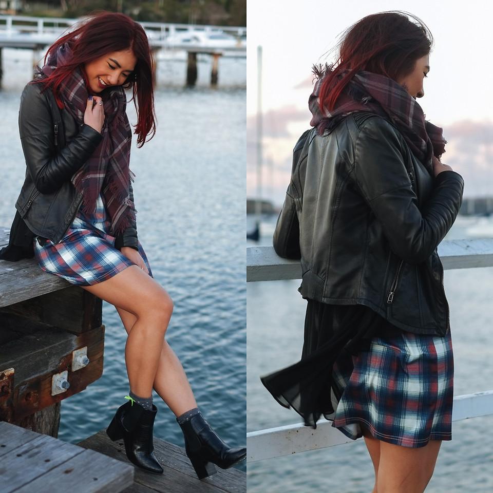 Jessie Khoo Evil Twin Poison Ivy Dress Zara Leather