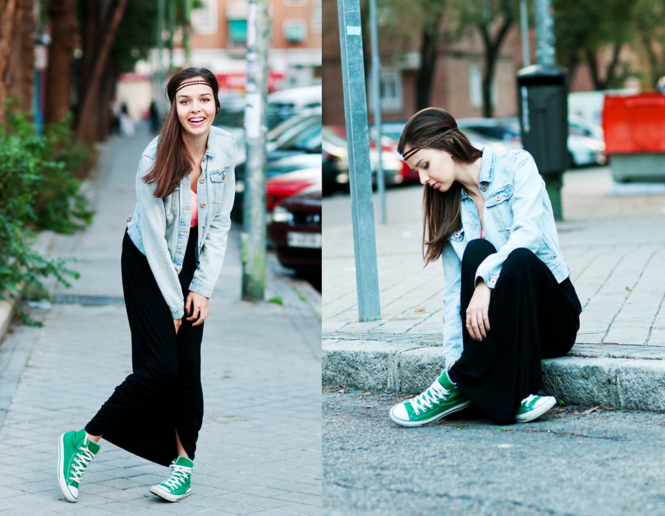 maxi skirt with converse Online