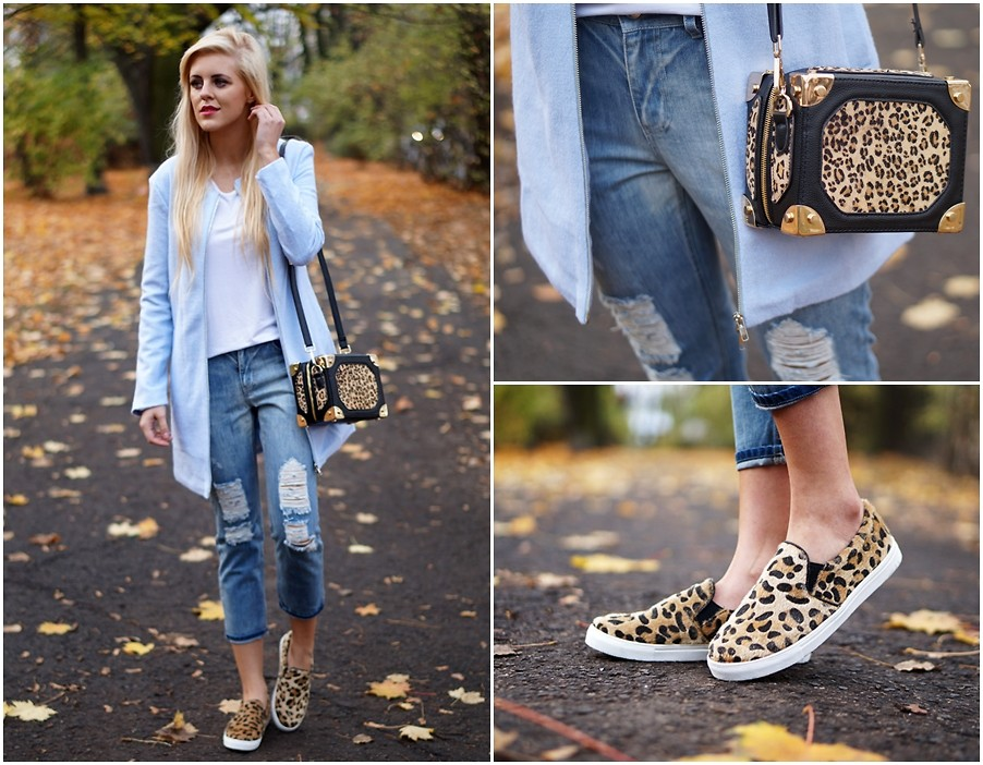 Estelle Fashion Sheinside Coat, Madamrock Slip On Sneakers