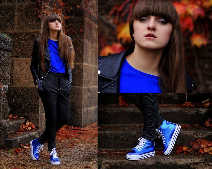 Zara Biker Jacket, Zara Electric Blue