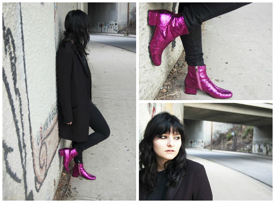 Saint Laurent Glitter Boots, Urban