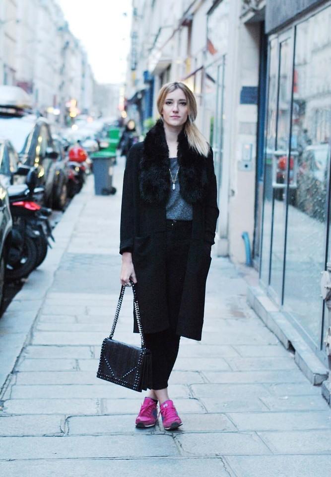 Zara Bag, Forever 21 Coat, Mango Pants