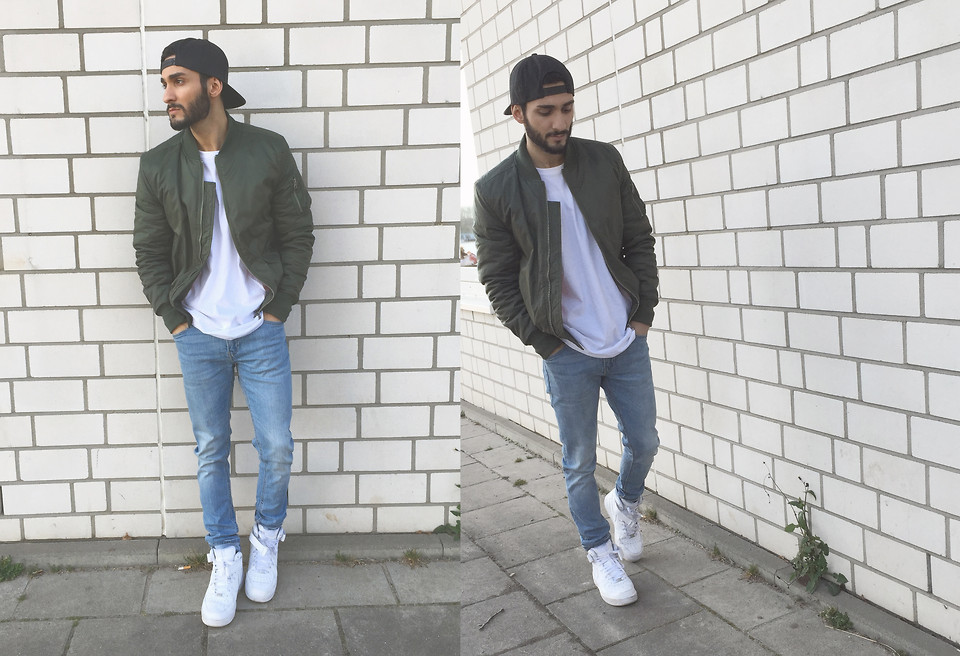 Lay XX Review Snapback, Urban Classics Bomber, Zara White