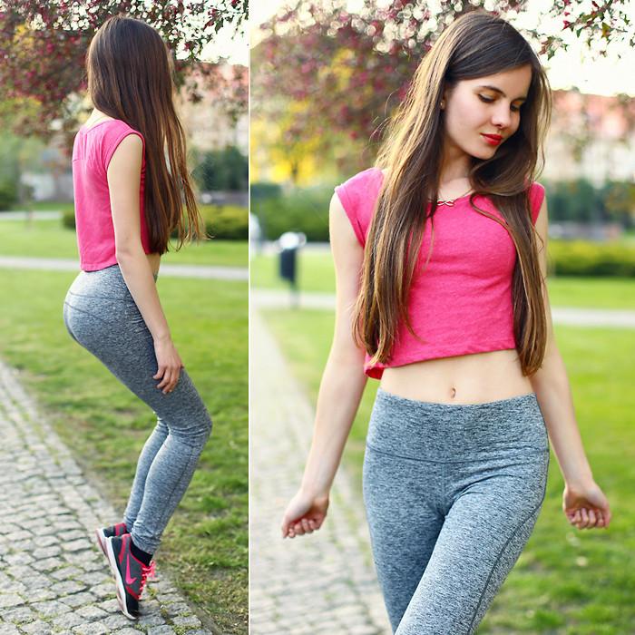 hot girls leggings nike