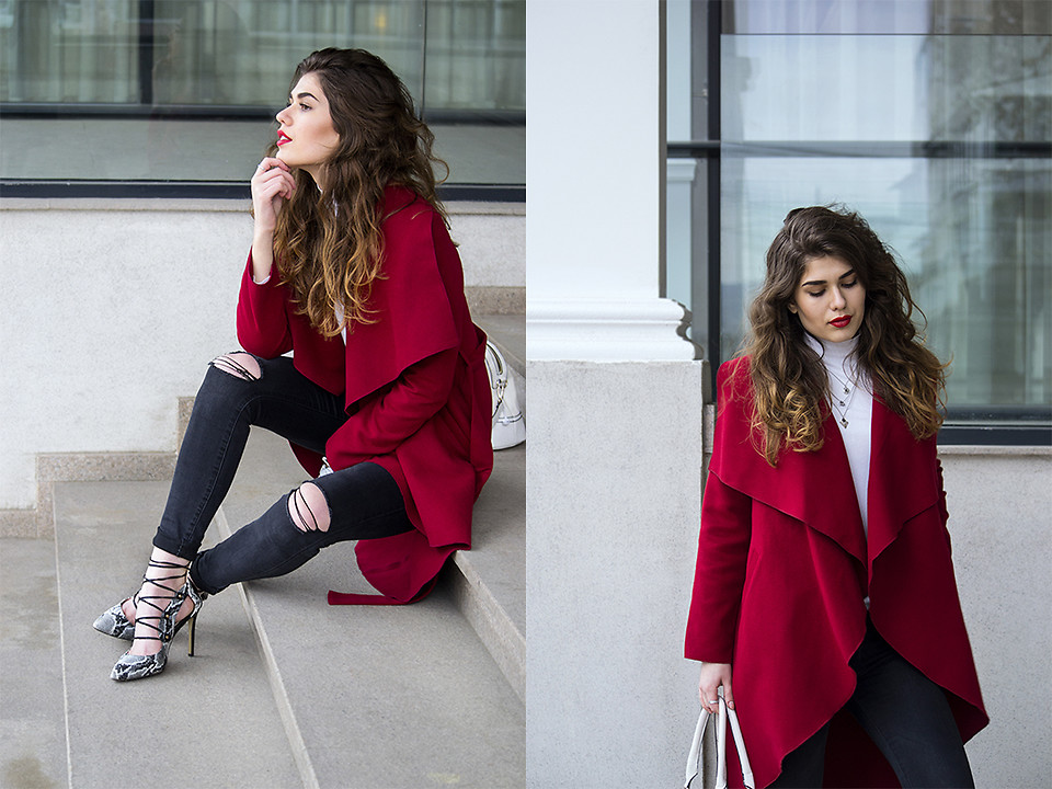 Fashionista NOW: 10 OOTD Ideas Featuring Various Eye-Popping Christmassy Red Coat Styles