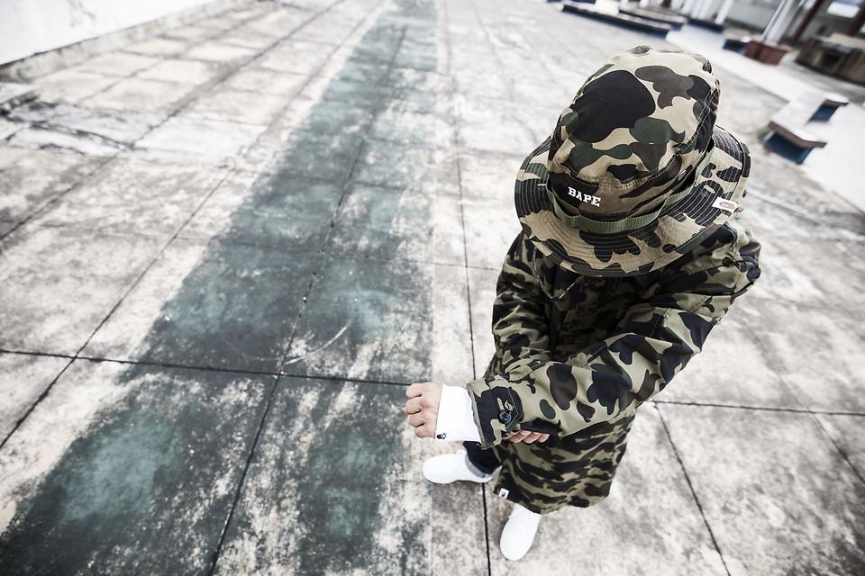 Kas Bape 1st Rain Camo Jacket, Bape 1st Camo Bucket Hat