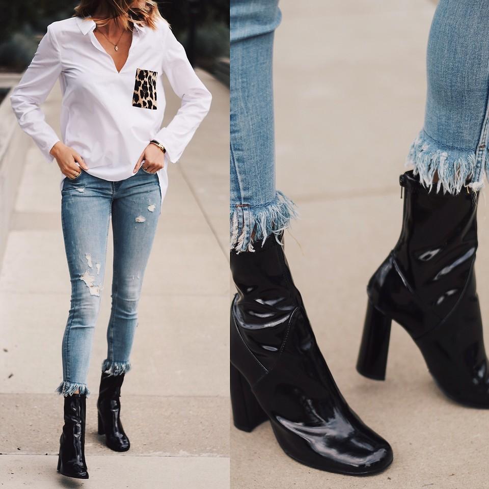 more photos crazy price separation shoes Amber - Zara Blouse, Zara Fringe Denim, Tony Bianco Low Black ...